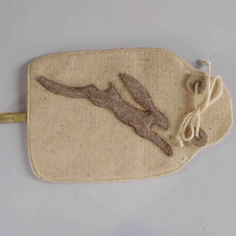 brown hare hot-water-bottle cover