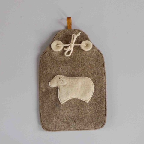 white sheep hot-water-bottle cover
