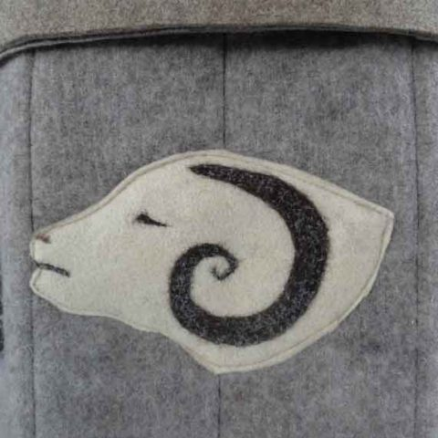 Sheep woolsack detail