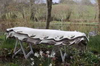 Leaf Cocoon hand-made wool felt coffin - Simple Meadow design
