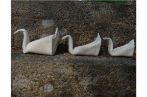 3 Swans Origami needle felting craft kit