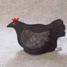 Chicken tea cosy black