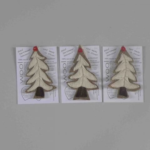 Wool felt Christmas trees 2015
